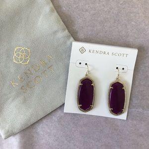 Kendra Scott Purple Jade Elle earrings